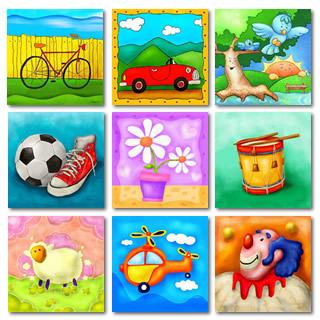 Cuadros infantiles modernos decoraci n y arte online para ni os - Laminas infantiles para cuadros ...