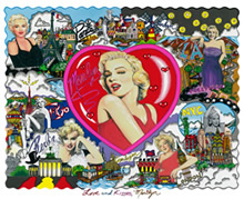 Collage pop de Marylin.