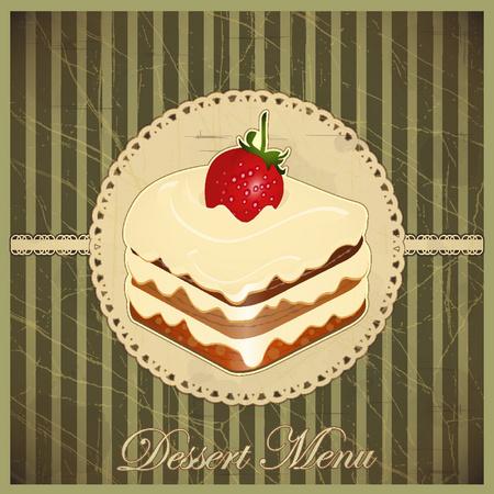 Cuadro Cake Dessert Menu