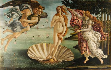 El Nacimiento de Venus - Botticelli