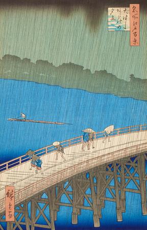Lluvia en el Puente Ohashi - Ando Hiroshige