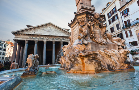 Roma con Panteón y Fontana de Trevi