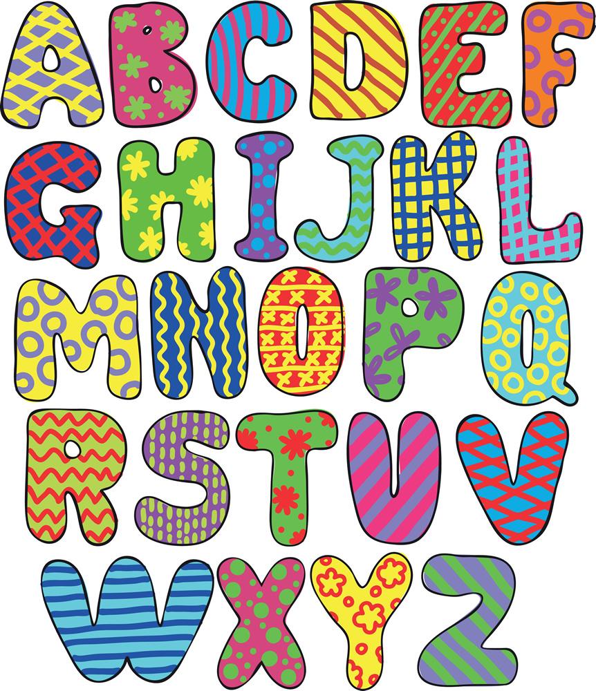 de las letras en el alfabeto: