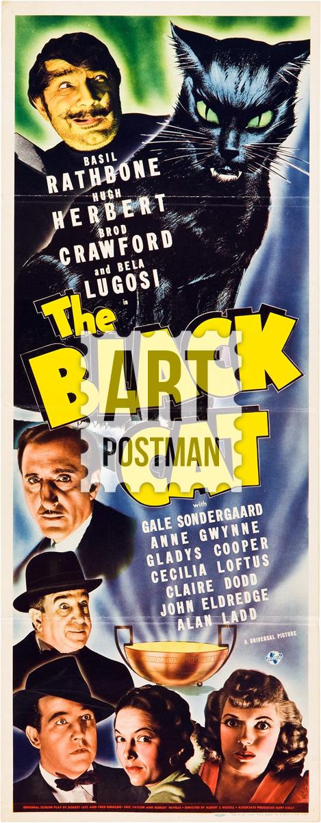 Cuadro de El Gato Negro, cartel de película antigua.