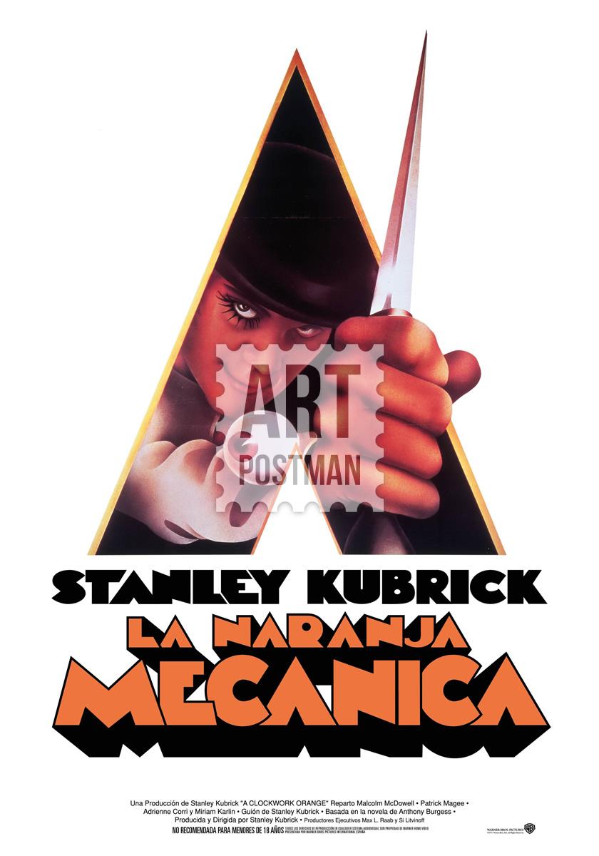 Cuadro de La Naranja Mecánica, cartel de la película.