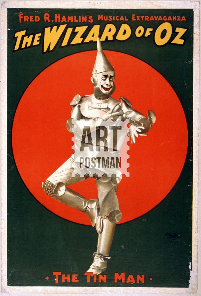Cuadro del Mago de Oz, poster vintage de película.