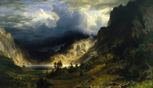 Tormanta en las Rocallosas - Bierstadt